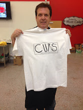 Photo: President Kelly (Lisa's husband) with his new CUTS tee.