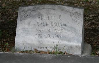 Photo: Arthur R Raulerson son of William M Raulerson and America Texas Dinkins / Husband of 1. Minnie Burnsed 2. FNU Johns