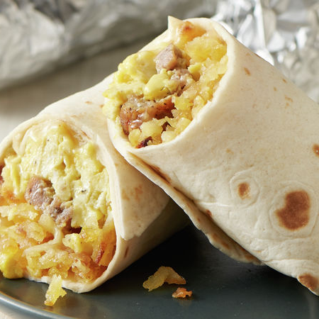 Bacon & Egg Breakfast Burrito