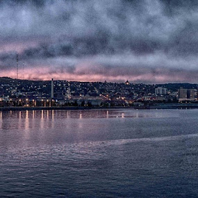 from the lighthouse by Beth Krzes - City,  Street & Park  Historic Districts ( water, color, storm, landscape, panorama, city,  )