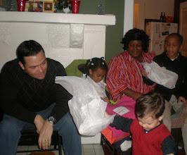 Photo: opening presents