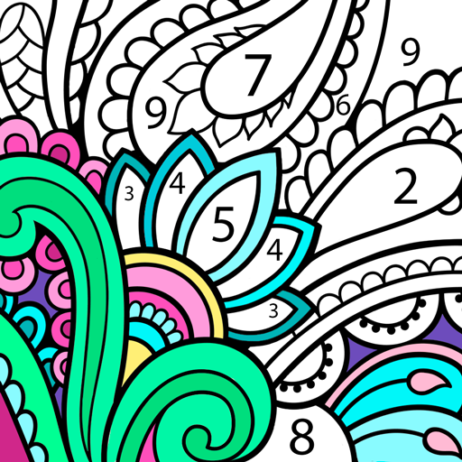 Mandala Color By Number Mandala Coloring Book Google Play De