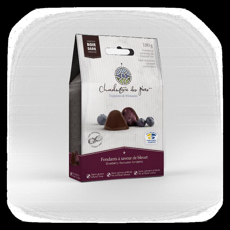 Chocolat Fondants à saveur de bleuet enrobés de chocolat noir