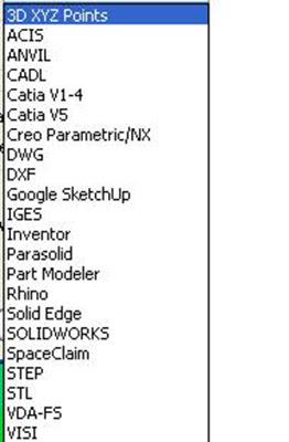 ALPHACAM позволяет открывать огромное количество форматов, таких как *.ACIS, *.Catia, *.DWG, *.DXF, Parasolid и многие другие