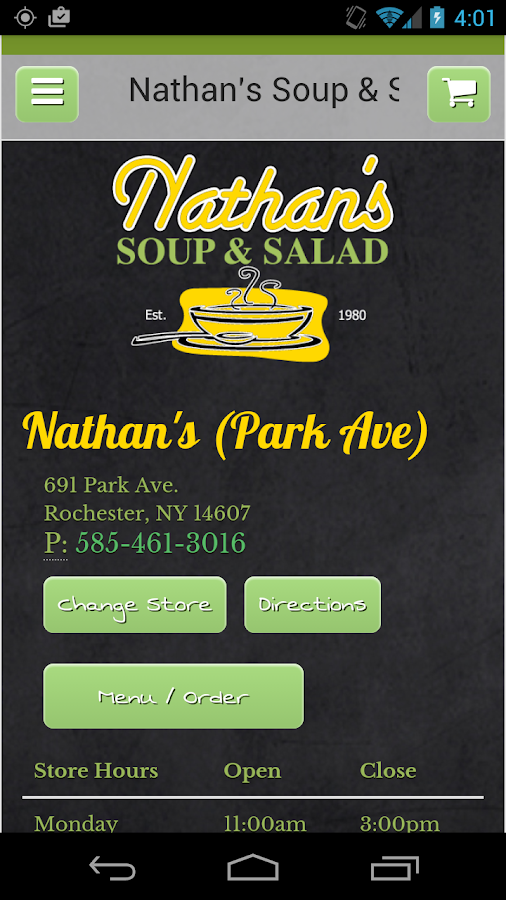 Nathan's Soup & Salad- screenshot