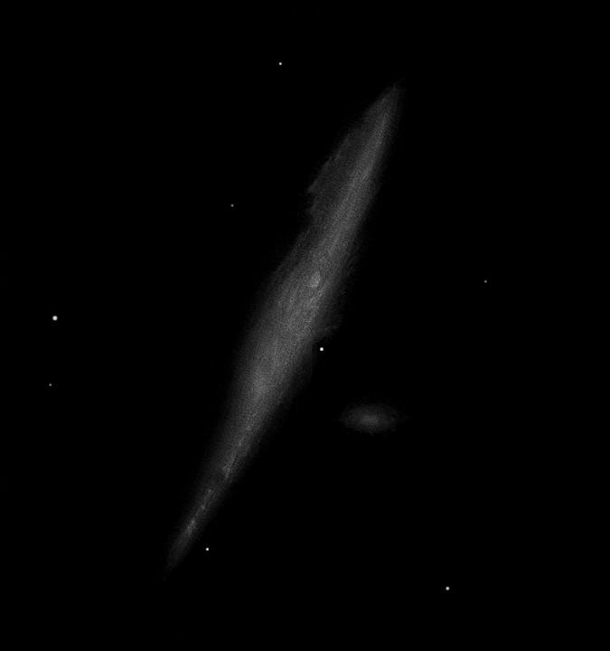 """Photo: NGC 4631, """"la baleine"""", dans les chiens de chasse. T406 à 195X le 26 avril 2011 au CAV."""
