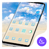 Blue Sky & Cloud APUS Launcher Theme Android APK Download Free By Cool Theme Team