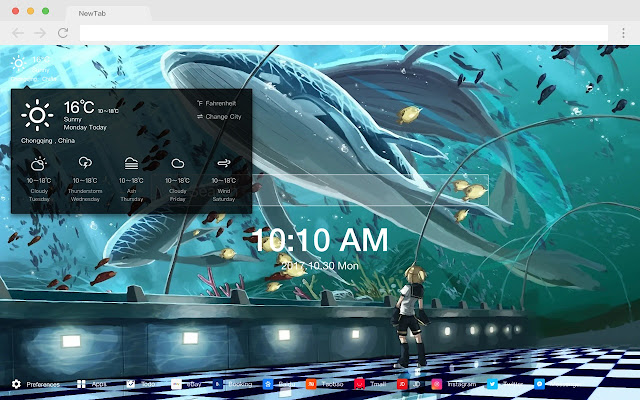 ∞ New Tab Page HD Pop MIKU Theme