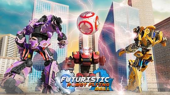 Futuristic Robot Flying Ball Battle 1
