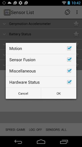 Sensor List screenshot 3