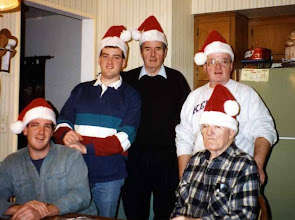 Photo: Nephews Mike and Jim, Fr. Jim, brother Mike, father Mike 1990