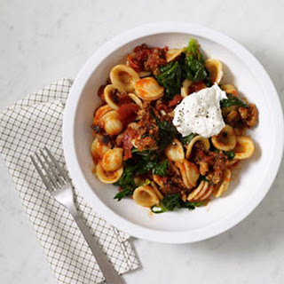 Italian Sausage and Spinach Orecchiette.