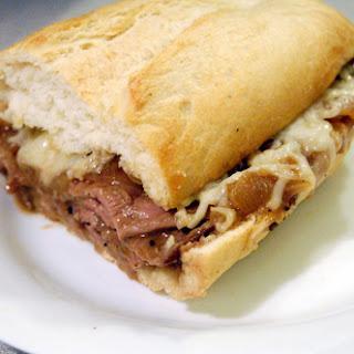 French Onion Cheesesteak Sandwich.