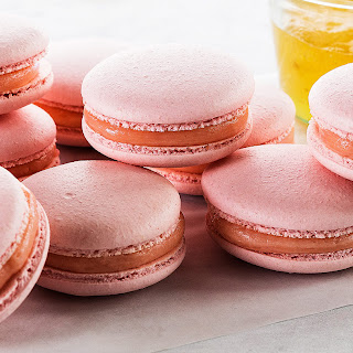 Rose-Champagne Macarons