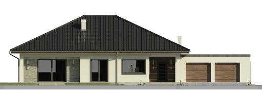 Dom przy Makowej 5 - Elewacja przednia