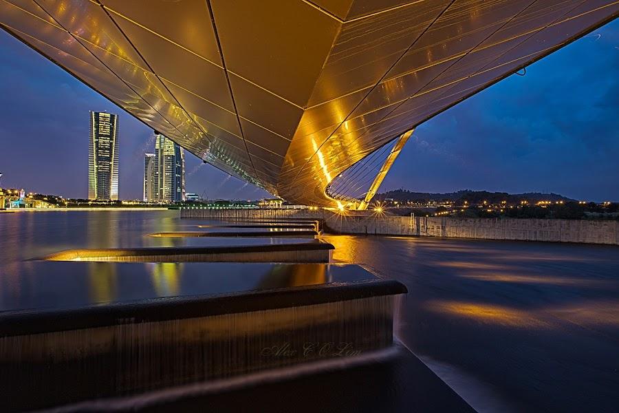 Blue hour under the boardwalk at Taman Empangan Putrajaya. by Alex Lim - Buildings & Architecture Bridges & Suspended Structures