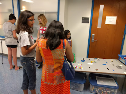 Parents stop by to learn about FLL Jr.