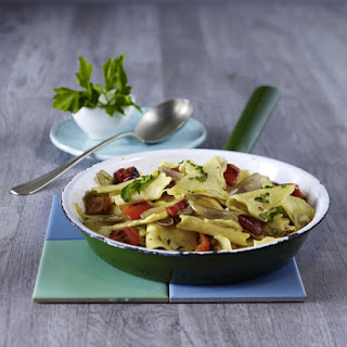 Fleckerl (Austrian Pasta) with Red Peppers