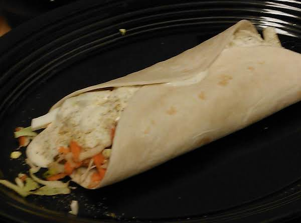 Crispy Fish Wrap With Carrot Slaw Recipe