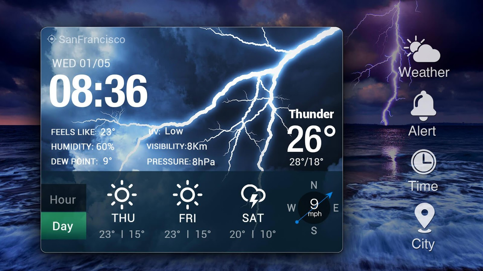 how to change weather widget on android