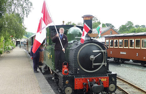 Transatlantic celebration on Llanfair Line