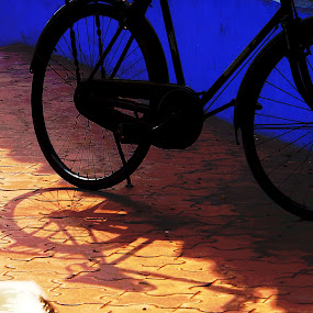 Layered by Satabdi Datta - Transportation Bicycles ( , color, colors, landscape, portrait, object, filter forge, Urban, City, Lifestyle )