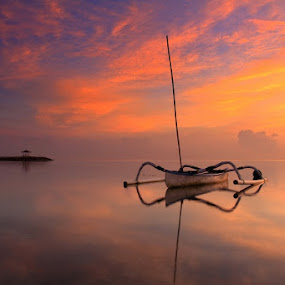Sanur Beach by Krishna Mahaputra - Landscapes Beaches