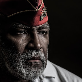 by Michael Fallon - People Portraits of Men ( veterans )