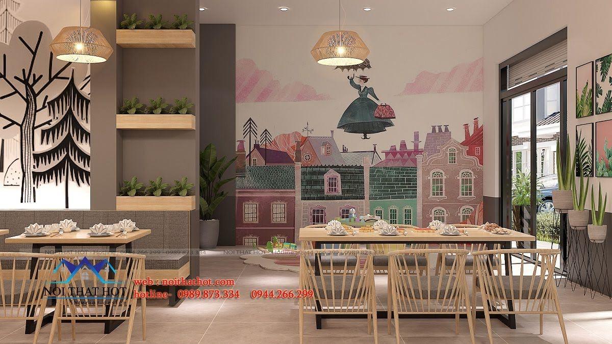 thiết kế nhà hàng trường giang 9
