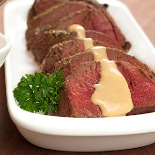 Venison Tenderloin with Aquavit-Cheese Sauce