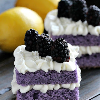 Vanilla Purple Cake with Lemon Buttercream.