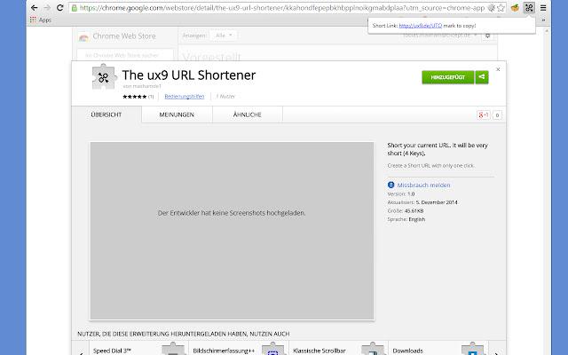 The ux9 URL Shortener
