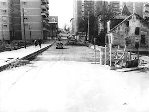 Photo: Rúa do Xeneral Rubín. A casa da dereita era a casa do xeneral. Hoxe aínda se existe a Palmeira. Arriba a esquerda estaba o Pazo de Paco Leis
