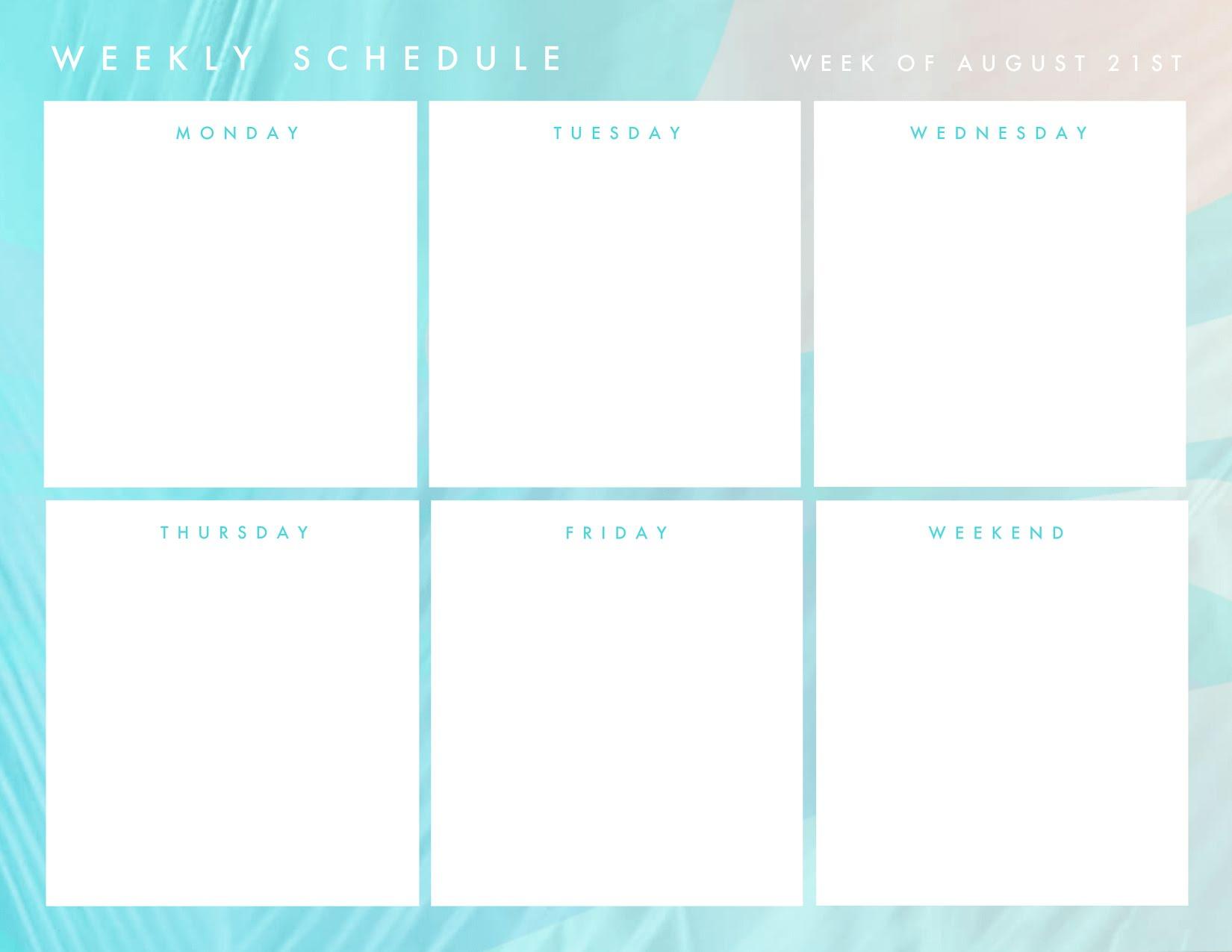 Schedule Template Weekly from lh3.googleusercontent.com