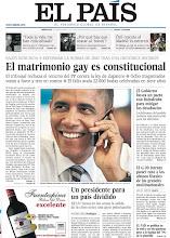 Photo: El Constitucional rechaza el recurso del PP contra la ley del matrimonio gay, el Gobierno busca un pacto con Rubalcaba para mitigar los desahucios y EE UU elige a su presidente, en nuestra portada del miércoles 7 de noviembrehttp://srv00.epimg.net/pdf/elpais/1aPagina/2012/11/ep-20121107.pdf
