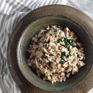 Quick and Easy Sausage & Mushroom Rice.