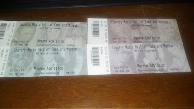 Photo: their tkts to the County Music Hall of Fame