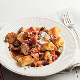 Rigatoni with Meaty Mushroom Bolognese Recipe
