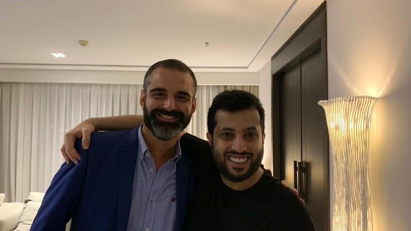 Fernández-Pacheco y Al-Sheikh tras la reunión.