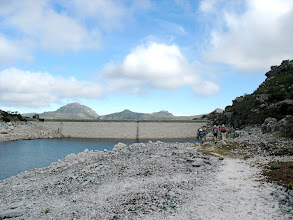 Photo: Heading for lunch past the De Villiers Dam