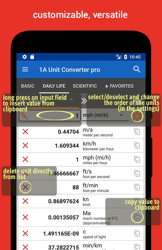 1A Unit Converter pro Screenshot 2