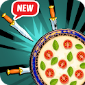 Pizza Knife Game - Throw the Knife Hit the Target icon