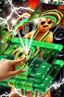 Rasta Teddy Bear Keyboard - náhled