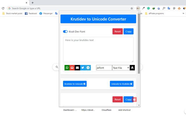 Krutidev To Unicode Converter