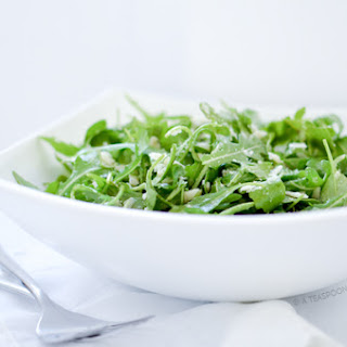Arugula Parmesan Salad with Simple Lemon Vinaigrette.