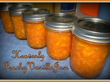 Heavenly Peachy Vanilla Freezer Jam Recipe