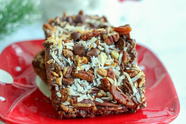 Mrs. Claus's Chocolate Fix Cut Into Bars.