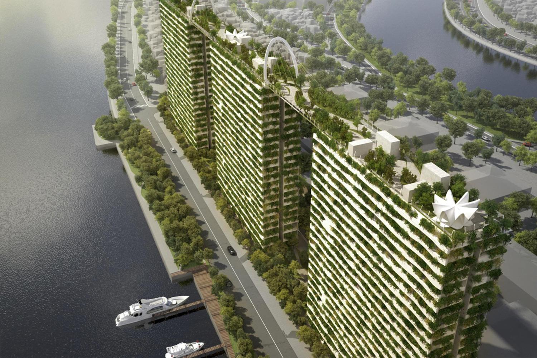 Phối cảnh trên cao của dự án bất động sản mang đến sự quan tâm lớn