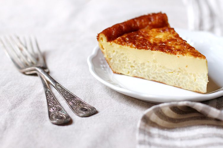 It's rice pudding meets custard meets cake