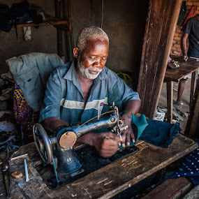 The Sewing Master by Joggie van Staden - People Portraits of Men ( work, male, working, people, professional, professional people, portrait )